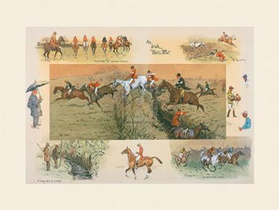An Irish Point to Point-Snaffles-Giclee Print