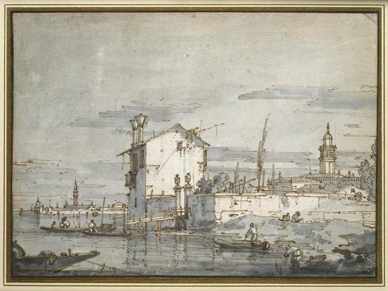 An Island in the Lagoon-Canaletto-Giclee Print
