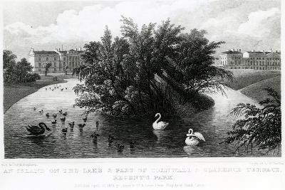 An Island on the Lake and Part of Cornwall and Clarence Terrace, Regent's Park-Thomas Hosmer Shepherd-Giclee Print