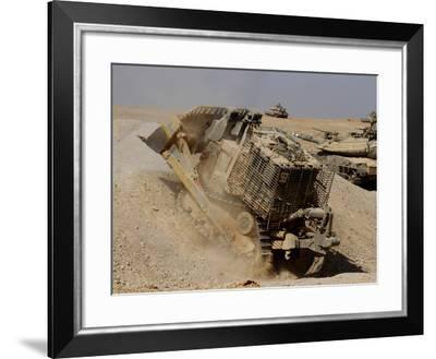 An Israel Defense Force Caterpillar D-9 Clearing the Way-Stocktrek Images-Framed Photographic Print