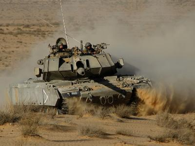 An Israel Defense Force Magach 7 Main Battle Tank in the Negev Desert-Stocktrek Images-Photographic Print