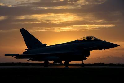 An Italian Air Force F-2000 Typhoon at Sunset-Stocktrek Images-Photographic Print