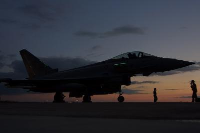 An Italian Air Force F-2000 Typhoon at Trapani Air Base, Italy-Stocktrek Images-Photographic Print