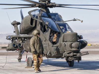 An Italian Army Agusta AW129 Mangusta Attack Helicopter-Stocktrek Images-Photographic Print