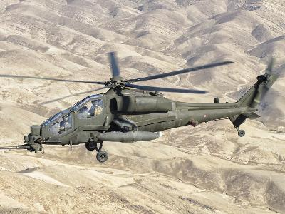 An Italian Army AW-129 Mangusta over Afghanistan-Stocktrek Images-Photographic Print