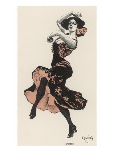 An Italian Dances the Tarantella--Giclee Print