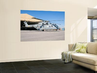 An Italian Navy Eh101 Helicopter at Forward Operating Base Herat, Afghanistan-Stocktrek Images-Wall Mural