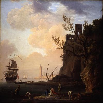 An Italianate Harbour Scene, 1749-Claude Joseph Vernet-Giclee Print