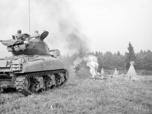 An M4A3E8 76Mm Armed Sherman Tank with Flame Thrower