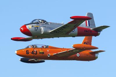 An Mb-326E of the Italian Air Force Flies Alongside a Jet Provost T3A-Stocktrek Images-Photographic Print