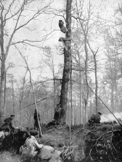 An Observation Point, 1915--Giclee Print