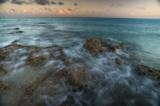 An Ocean View Off the Coast of Cat Island in the Bahamas at Sunset-Andy Mann-Photographic Print