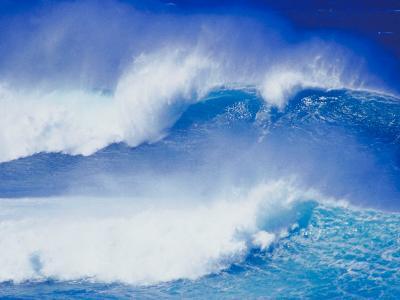 An Ocean Wave in Hawaii--Photographic Print
