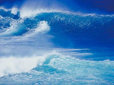 An Ocean Wave in Hawaii--Photographic Print