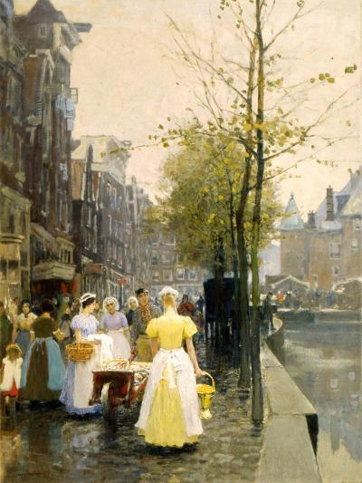 An October Morning in Amsterdam, C1895-Hans Hermann-Giclee Print
