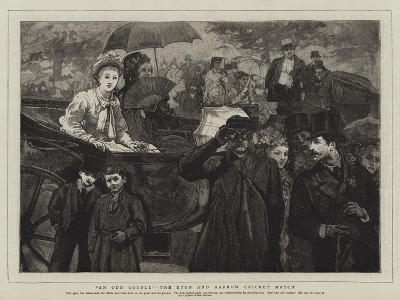An Odd Couple, the Eton and Harrow Cricket Match--Giclee Print