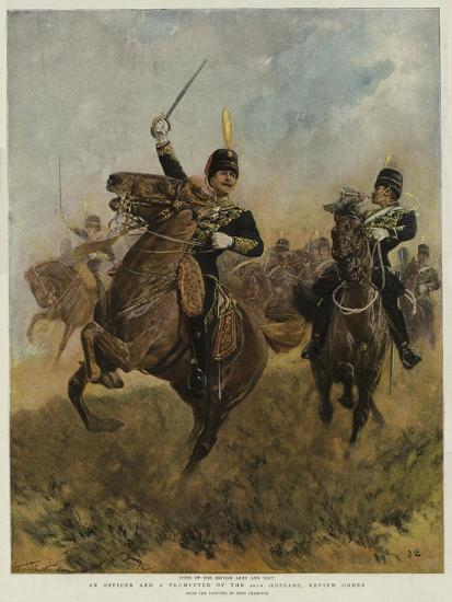 An Officer and a Trumpeter of the 20th Hussars, Review Order-John Charlton-Giclee Print