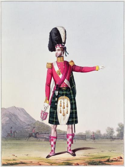 """An Officer of the 92nd Highland Regiment of Foot from Spooner's Upright Series of """"Costume of the…--Giclee Print"""