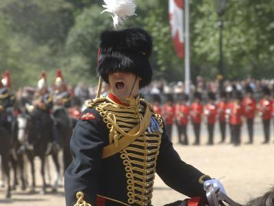 An Officer Shouts Commands During the Trooping the Colour Ceremony at Horse Guards Parade, London-Stocktrek Images-Photographic Print