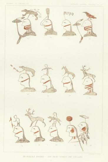 An Ogalala Roster - 'The-Bear-Spares-Him' and Band--Giclee Print