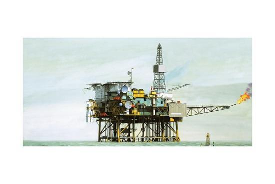An Oil Rig-Clifford Meadway-Giclee Print
