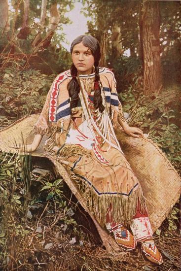 An Ojibwa Maiden--Giclee Print