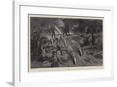 An Old Custom in the Austrian Alps, Hurling the Fiery Wheels Down the Hill-Joseph Nash-Framed Giclee Print