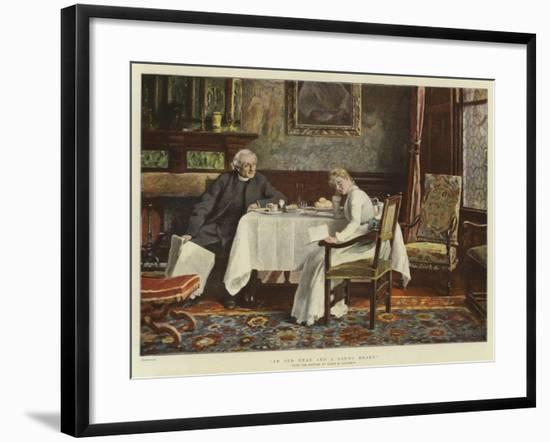 An Old Head and a Young Heart--Framed Giclee Print