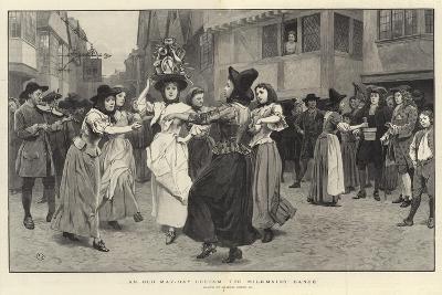 An Old May-Day Custom, the Milkmaid's Dance-Charles Green-Giclee Print