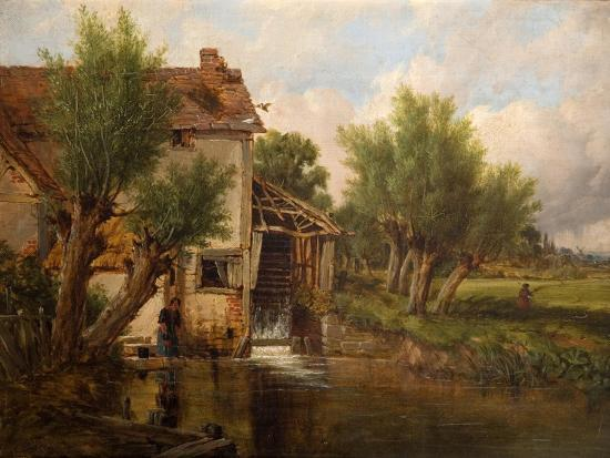 An Old Mill Near Worcester, 1880-Benjamin Williams Leader-Giclee Print
