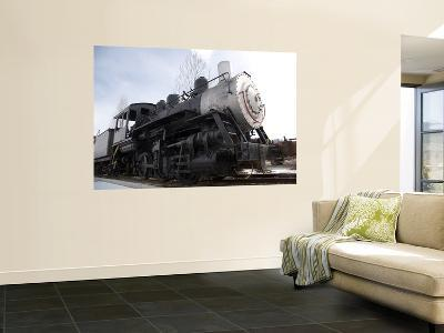 An Old Steam Engine Sits on a Siding-Taylor S^ Kennedy-Wall Mural