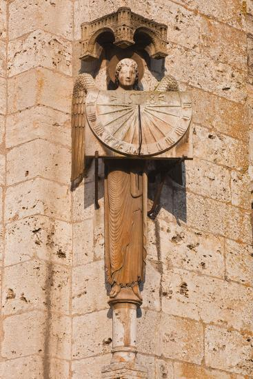 An Old Sundial on Chartres Cathedral-Julian Elliott-Photographic Print