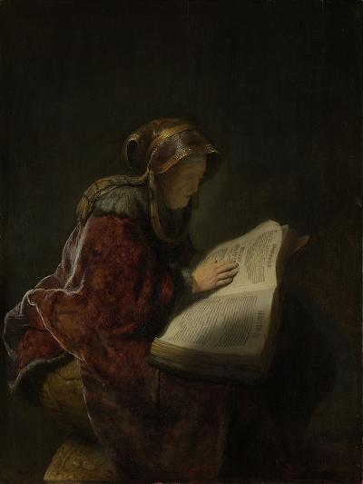 An Old Woman Reading, Probably the Prophetess Hannah, 1631-Rembrandt van Rijn-Giclee Print