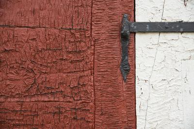 An Old Wrought Iron Hinge on a Weathered Door and Frame-Michael Melford-Photographic Print