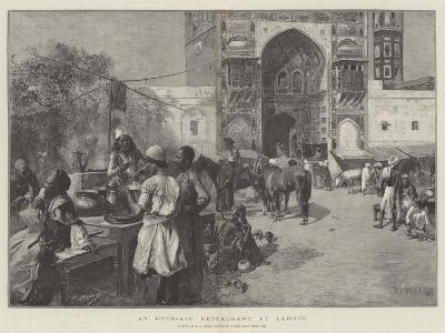 An Open-Air Restaurant at Lahore-Edwin Lord Weeks-Giclee Print