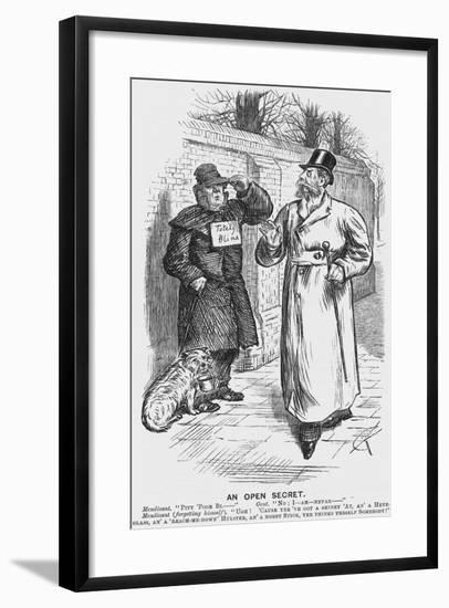 An Open Secret, 1888-Charles Samuel Keene-Framed Giclee Print
