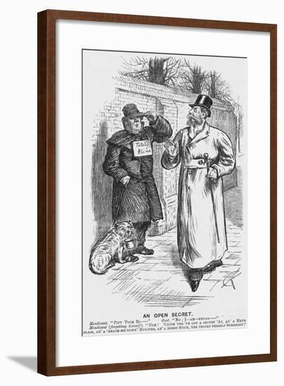 An Open Secret, 1888-Charles Samuel Keene-Framed Giclee Print