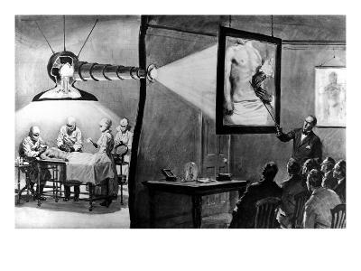 An Operation Screened Live in a Medical Lecture--Giclee Print