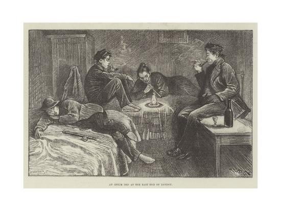 An Opium Den at the East End of London-William Douglas Almond-Giclee Print