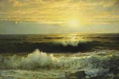 An Orange Sunset Waning Low, 1897-William Trost Richards-Giclee Print