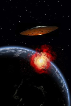 An Orbiting Ufo Launches a Deadly Attack Upon the Surface of Earth