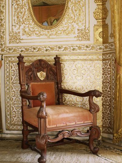 An Original Chair Used at the Coronation of King George the Fifth in 1911, Sirohi, India-John Henry Claude Wilson-Photographic Print