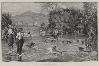 An Otter Hunt in Somersetshire, in at the Death-Robert Walker Macbeth-Giclee Print