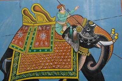 An Outdoor Mural in Jodhpur's Blue City-Steve Winter-Photographic Print