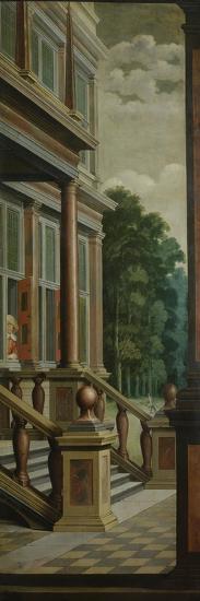 An Outdoor Stairway-Dirck Van Delen-Art Print