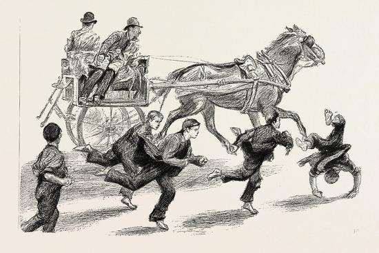 An Outside Car, 1888--Giclee Print