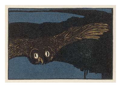 An Owl Staring at You at Night--Giclee Print