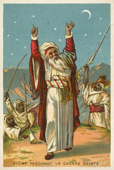 An Ulama Preaching Jihad--Giclee Print