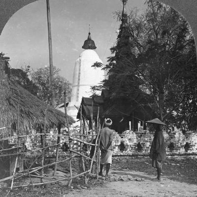 An Umbrella Shaped Pagoda, Bhamo, Burma, 1908--Photographic Print