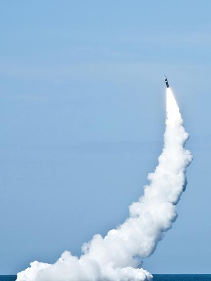 An Unarmed Trident II D5 Missile Launches from USS Nevada-Stocktrek Images-Photographic Print